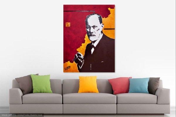 SigmundFreudpainting-affordableart-artwall-artforsale-artwebsites-buyartonline-contemporaryart-bestartistpainter2019-fineart-Banksyartwork-jonathanthepainter-laouina1