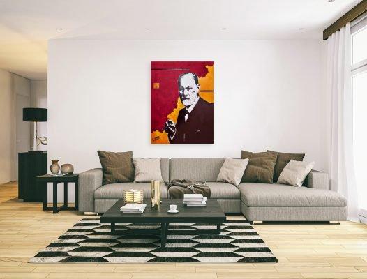 SigmundFreudpainting-affordableart-artwall-artforsale-artwebsites-buyartonline-contemporaryart-bestartistpainter2019-fineart-Banksyartwork-jonathanthepainter-laouina2
