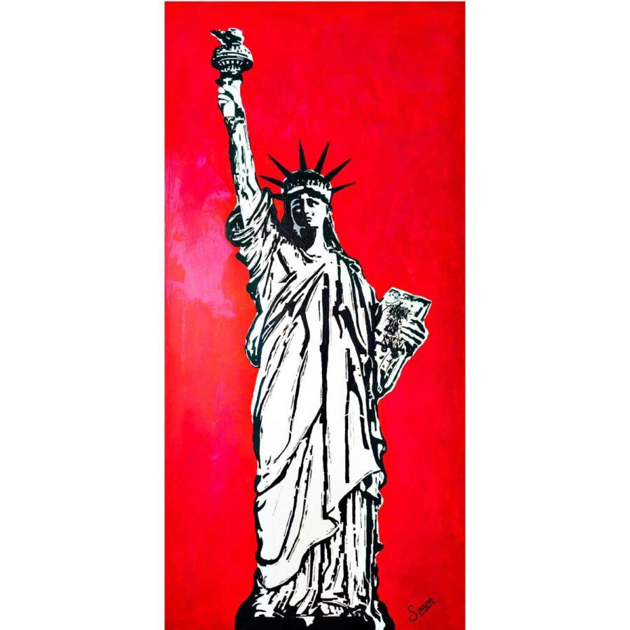Statueoflibertypainting-affordableart-artdealers-artforsale-artwebsites-buyartonline-contemporaryart-bestartistpainter2019-fineart-Banksyartwork-jonathanthepainter-laouina