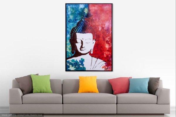 bouddhapainting-affordableart-artwall-artforsale-artwebsites-buyartonline-contemporaryart-bestartistpainter2019-fineart-Banksyartwork-jonathanthepainter-laouina1