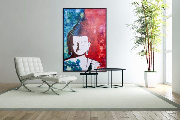 bouddhapainting-affordableart-artwall-artforsale-artwebsites-buyartonline-contemporaryart-bestartistpainter2019-fineart-Banksyartwork-jonathanthepainter-laouina2