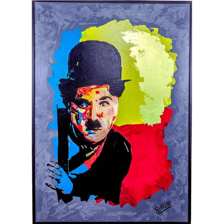 charliechaplinpainting2-affordableart-artdealers-artforsale-artwebsites-buyartonline-contemporaryart-bestartistpainter2019-fineart-Banksyartwork-jonathanthepainter-laouina