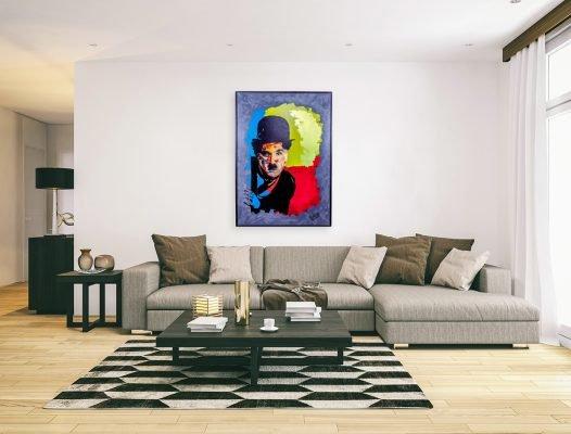 charliechaplinpainting2-affordableart-artwall-artforsale-artwebsites-buyartonline-contemporaryart-bestartistpainter2019-fineart-Banksyartwork-jonathanthepainter-laouina