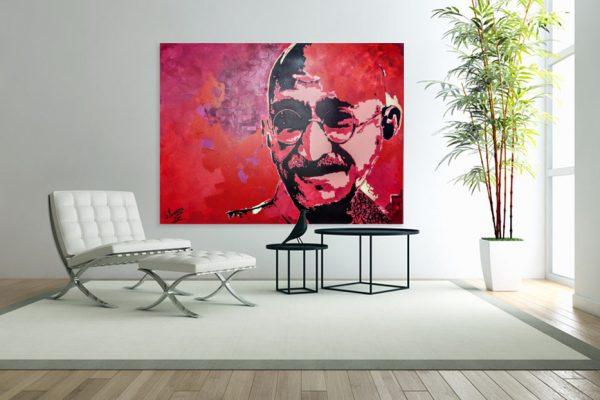 gandhipainting-affordableart-artwall-artforsale-artwebsites-buyartonline-contemporaryart-bestartistpainter2019-fineart-Banksyartwork-jonathanthepainter-laouina