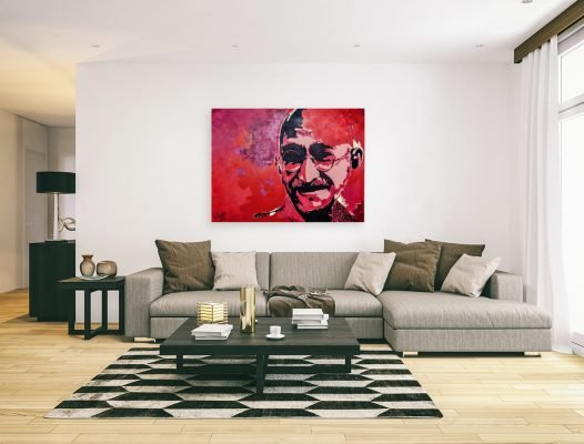 gandhipainting-affordableart-artwall-artforsale-artwebsites-buyartonline-contemporaryart-bestartistpainter2019-fineart-Banksyartwork-jonathanthepainter-laouina1